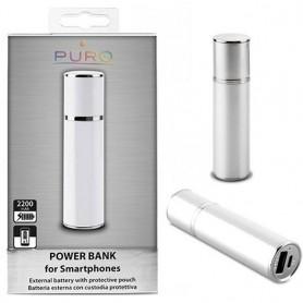 Puro Power Bank 2200mAh - Sølv