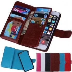 Dobbel flip magnet 2 i 1 iPhone 7/8 9-korts etui Mobiltelefon veske