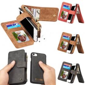 Multi-lommebok 14-korts iPhone 7/8 mobil skallveske