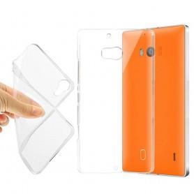 MS Lumia 929/930 silikonetui gjennomsiktig