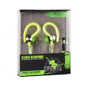 Sport headset med mikrofon - Grønn