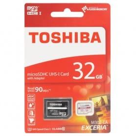 Toshiba 32 GB Micro SD med klasse 10-adapter