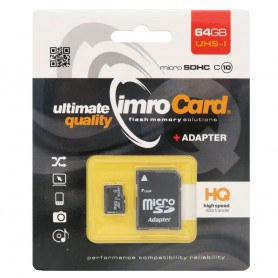 IMRO Micro SDHC-minnekort 64 GB Class 10