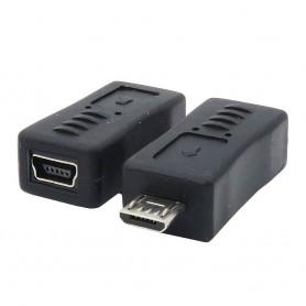 Adapter USB B Micro Male til USB B Mini Female
