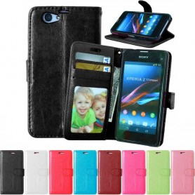 Mobil lommebok 3-kort Sony Xperia Z1 Compact