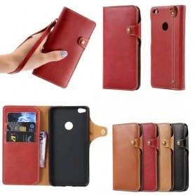 Retro mobil lommebok Huawei Honor 8 Lite / P8 Lite 2017