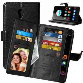 Mobil lommebok Dobbelt flip Flexi 8-kort ZTE Blade V7