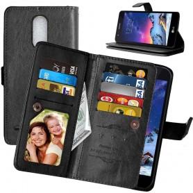 Mobil lommebok Dobbelt flip Flexi 8-kort LG K10 2017 (M250N)