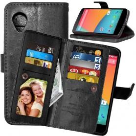 Mobil lommebok Double Flip Flexi 8-kort LG Nexus 5 E980
