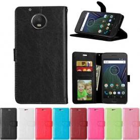 Mobil lommebok 3-kort Motorola / Lenovo Moto G5 Plus