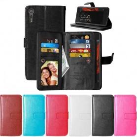 Dobbelt flip Flexi 9-kort Sony Xperia XZ XZ mobil lommebok kassett