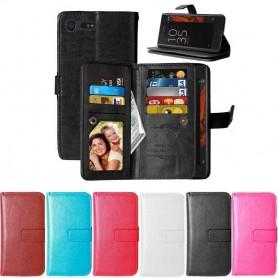 Mobil lommebok Dobbelt flip Flexi 9-kort Sony Xperia X Compact CaseOnline.se