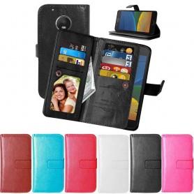 Mobil lommebok Dobbeltvipp Flexi 9-kort Motorola / Lenovo Moto G5 Plus