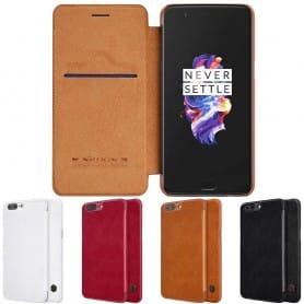 Nillkin Qin FlipCover OnePlus 5 mobiltelefonetui CaseOnline.se