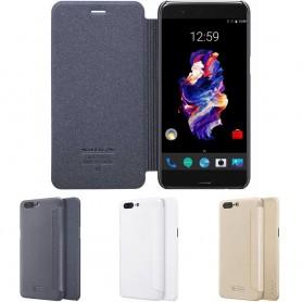 FlipCover Nillkin Sparkle OnePlus 5 mobilt tilbehør beskyttelse CaseOnline