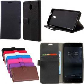 Mobil lommebok 2-kort Nokia 3 Mobil etui Cover Cover Case Online