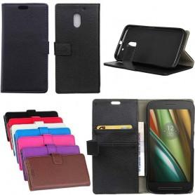 Mobil lommebok 2-kort Motorola Moto E3 (3. gen) Mobiltelefon beskyttelse av etui CaseOnline