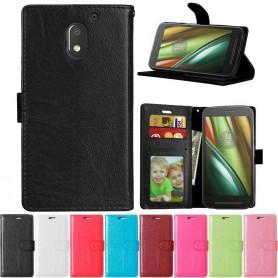 Mobil lommebok 3-kort Motorola Moto E3 (3. Gen) beskyttelse av mobiltelefoner