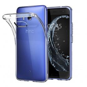 HTC U11 Silikonetui Gjennomsiktig beskyttelse av mobiltelefoner