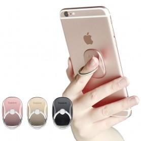 Baseus Multifunksjon metall Mobilholder, Fingerring, Selfing