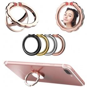 Multifunksjonsspeilmetall Mobilholder, Fingerring, Selfing