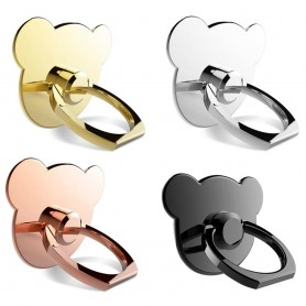 Cute Bear metal Mobile Holder, Finger Ring, Selfie