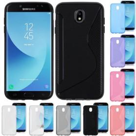 S Line silikon deksel til Samsung Galaxy J7 2017 SM-J730 Mobil beskyttelse CaseOnline.se