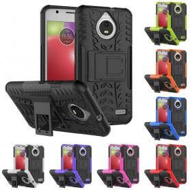 Slagbestandig skall med stativ Motorola Moto E4 silikon mobil deksel