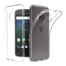 Motorola Moto E4 silikondeksel Gjennomsiktig mobil deksel