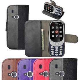 Mobil lommebok med kortlomme Nokia 3310 (2017) silikonramme mobil deksel