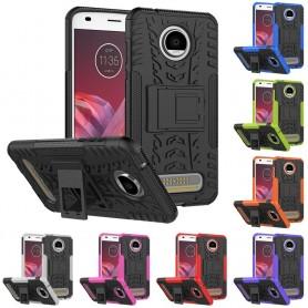 Slagbestandig skall med stativ Motorola Moto Z2 Play XT1710 (2. generasjon) CaseOnline mobildeksel