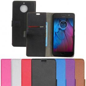 Mobil lommebok 2-kort Motorola Moto G5S Mobildeksel Silikon tilbehør Caseonline-beskyttelse