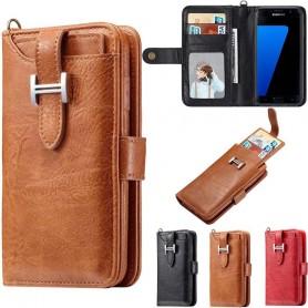 Multi Wallet 3i1 9-kort Samsung Galaxy S7 SM-G930F Mobiltelefon veske