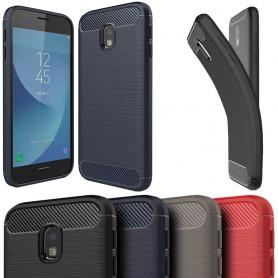 Børstet silikon TPU-skall Samsung Galaxy J3 2017 SM-J330 mobil skallbeskyttelse