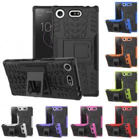 Slagbestandig skall for Sony Xperia XZ1 Compact G8441 mobil skallbeskyttelse silikonstativ