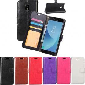 Mobil lommebok 3-kort Samsung Galaxy J7 2017 SM-J730F beskyttelse av mobiltelefoner