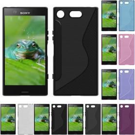 S Line silikon deksel til Sony Xperia XZ1 Compact G8341 mobiltelefon skall