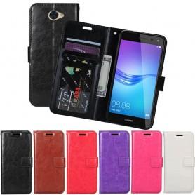Mobil lommebok 3-kort Huawei Y7 2017 (TRT-LX1) Mobiltelefon Veske Cover Caseonline