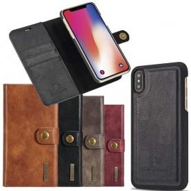 Mobil lommebok magnetisk DG-Ming Apple iPhone X flyttbar skallbeskyttelse