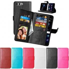 Mobil lommebok Dobbeltvipp Flexi 9-kort Huawei Honor 9 (STF-L09) mobiltelefonveske