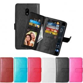 Dobbeltklikk Flexi 9-kort Nokia 3 beskyttelse for mobiltelefon lommebok