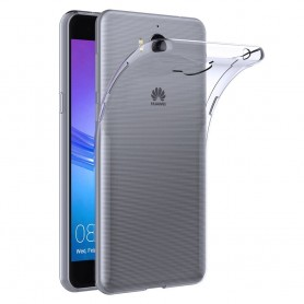 Huawei Y7 TRT-LX1 silikonetui Gjennomsiktig beskyttelse av mobiltelefoner TPU
