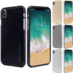 Mercury i Jelly Metal Apple iPhone X mobil skall silikon tpu