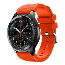 Silikon Sport Armbånd Samsung Gear S3 Frontier - S3 Classic (svart)