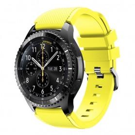 Silikon Sport Armbånd Samsung Gear S3 Frontier - S3 Classic (gul)