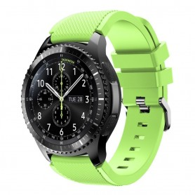 Silikon Sport Armbånd Samsung Gear S3 Frontier - S3 Classic (lime)