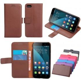 Mobil lommebok 2-korts silikonramme Huawei Honor 4X CHE2-L11 beskyttelse mot mobiltelefon