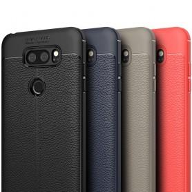 LG V30 lærmønstret silikon TPU mobil deksel
