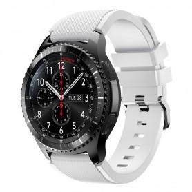 Silikon Sport Armbånd Samsung Gear S3 Frontier - S3 Classic (hvit)