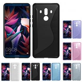 S Line silikonskall Huawei Mate 10 Pro mobil beskyttelse mot skall